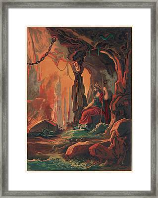 The Ruler Of The Underworld Framed Print by Mary Evans Picture Library