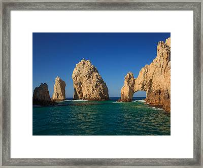 The Sea Arch El Arco De Cabo San Lucas Framed Print