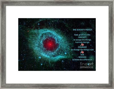 The Serenity Prayer Helix Nebula. Framed Print by Heinz G Mielke