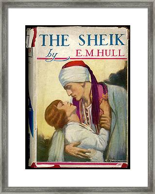 'the Sheik'  By E M Hull       Date Framed Print by Mary Evans Picture Library