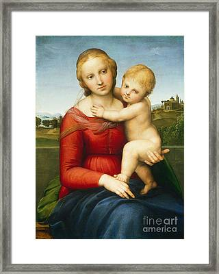 The Small Cowper Madonna Framed Print by Raphael Raffaello Sanzio of Urbino
