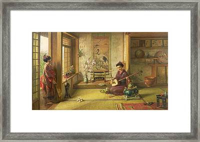 The Stray Shuttlecock Framed Print by Frank Dillon