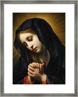The Virgin Of The Annunciation Framed Print by Carlo Dolci