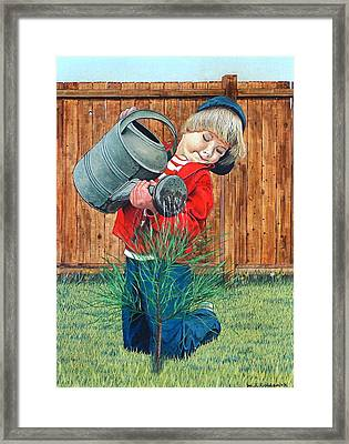 The Young Arborist Framed Print