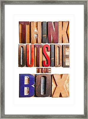 Think Outside The Box Framed Print by Donald  Erickson