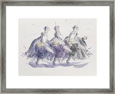 Three Kings Dancing A Jig Framed Print by Joanna Logan