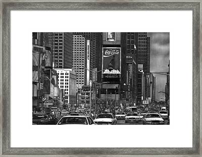 Times Square Framed Print by Jerry Winick