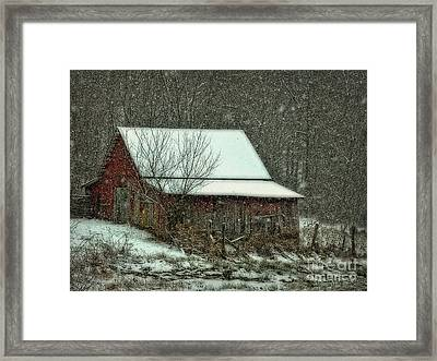 Framed Print featuring the photograph  Tiny Stable by Brenda Bostic