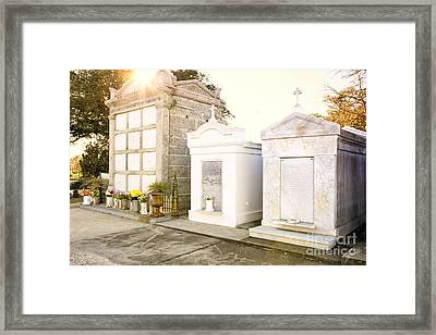 Framed Print featuring the photograph   Tombstones  by Erika Weber