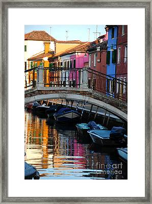 Torcello Color Two Framed Print by Jacqueline M Lewis