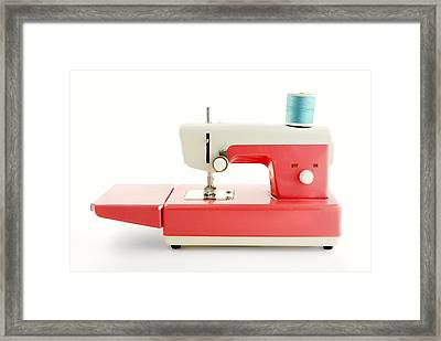 Toy Sewing Machine Framed Print