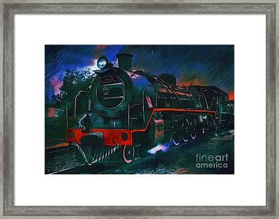 Train Framed Print by Andrzej Szczerski