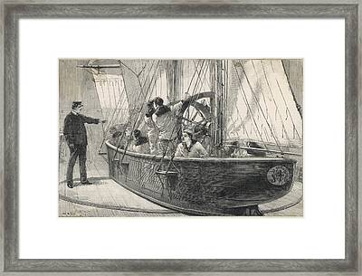 Training Naval Cadets On A  Swinging Framed Print by  Illustrated London News Ltd/Mar