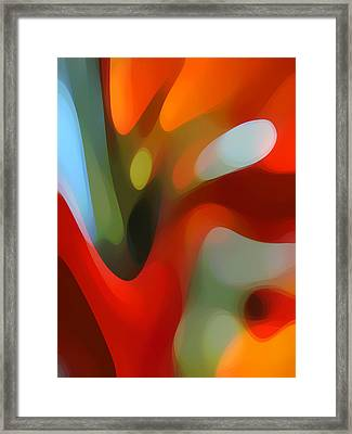 Tree Light 2 Framed Print by Amy Vangsgard