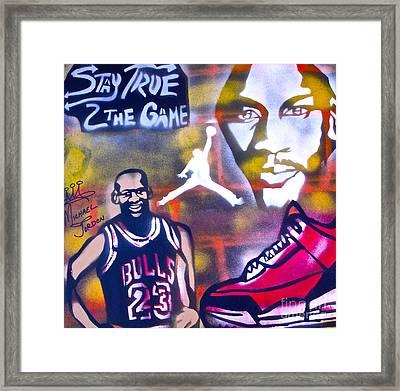 Truly Michael Jordan  Framed Print by Tony B Conscious