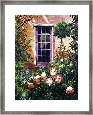 Tuscan Villa Garden Framed Print by David Lloyd Glover