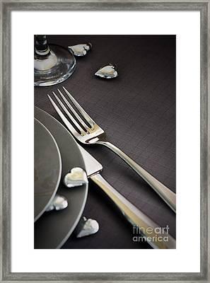 Valentines Day Dinner Framed Print