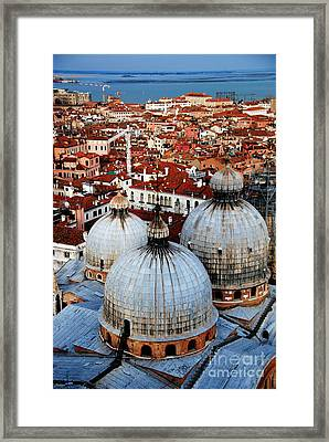 Venice In Glory - Vertical Framed Print by Jacqueline M Lewis