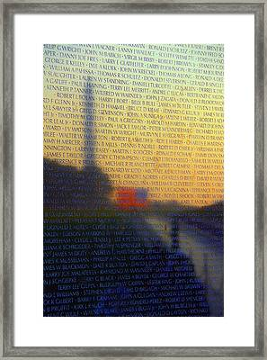 Vietnam Veterans Memorial Framed Print by Mitch Cat