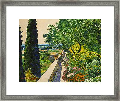 View Of Provence Framed Print by David Lloyd Glover