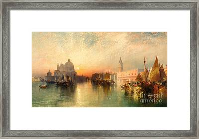 View Of Venice Framed Print by Thomas Moran