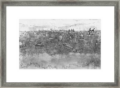 View Over Roma Framed Print by Mikko Tilus