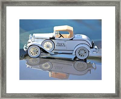 Vintage Car Framed Print by Lorna Maza