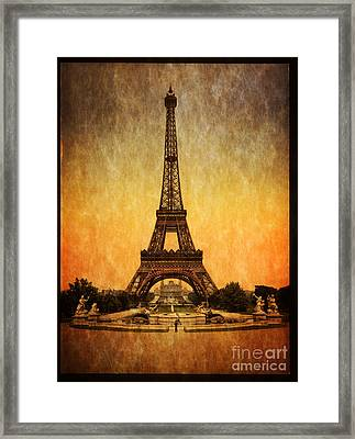 Vintage Eiffel Tower Paris  Framed Print by Heinz G Mielke