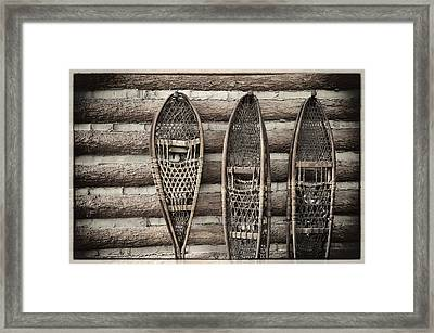 Vintage Snow Shoes Framed Print by Carter Jones