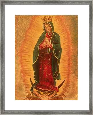 Virgen  De  Guadalupe Framed Print