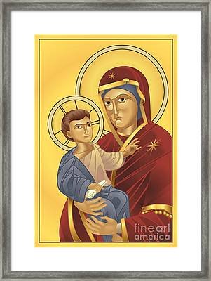 Virgin Mary And Jesus Christ Framed Print by Christos Georghiou