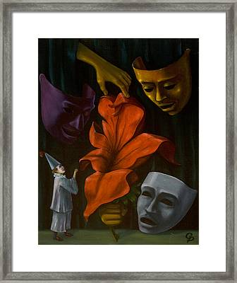 Void Framed Print by George Dadiani