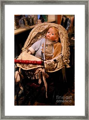 Waiting For A New Friend Framed Print by Karin Stein