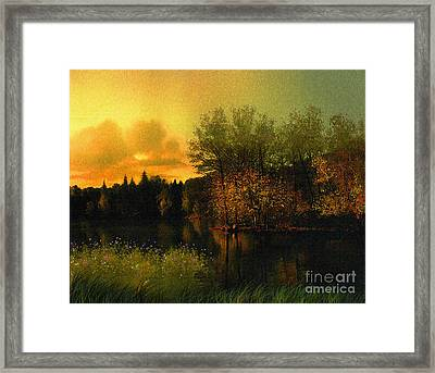 Warm Waters Framed Print by Robert Foster