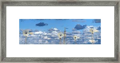 Water Windmills Framed Print