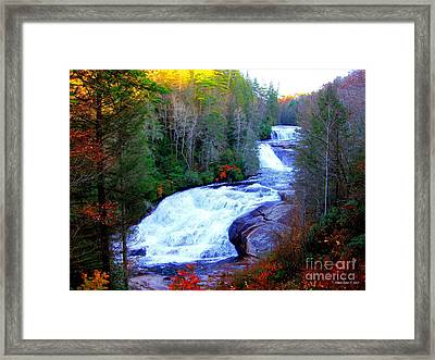 Framed Print featuring the photograph  Waterfall At Dupont Forest Nc 2 by Annie Zeno