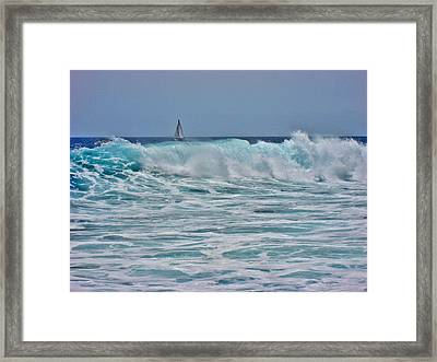 Wave And Sail. Framed Print by Andy Za