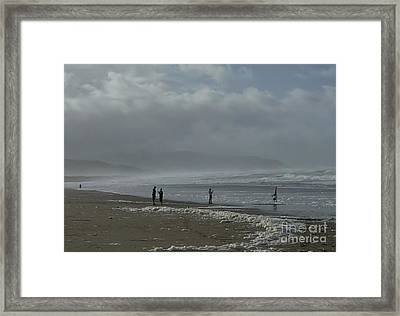 Wave Handstand  Framed Print by Susan Garren