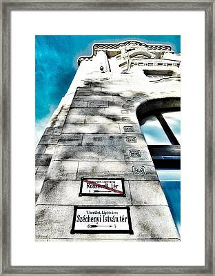 Way The Wind Blows - Four Season Hotel Budapest Hungary Framed Print by Marianna Mills
