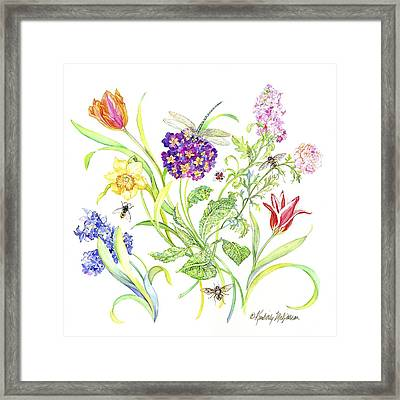 Welcome Spring I Framed Print by Kimberly McSparran