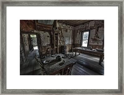 Wells Hotel Dining Room - Garnet Ghost Town - Montana Framed Print