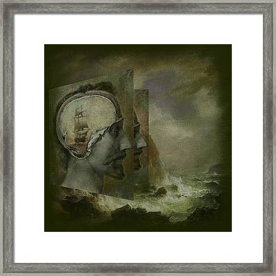 When A Man's Thoughts Turn Toward The Sea Framed Print