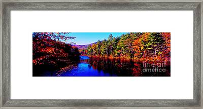 White Mountians National Park Red Eagle Pond New Hampshire Framed Print by Tom Jelen