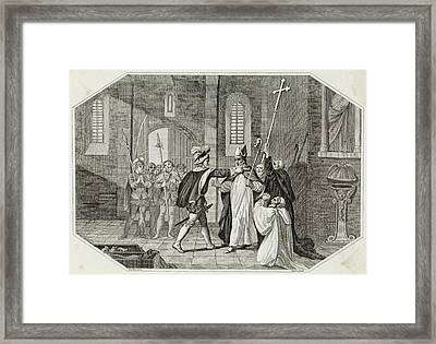 William I Arrests Odo, Bishop Framed Print by Mary Evans Picture Library