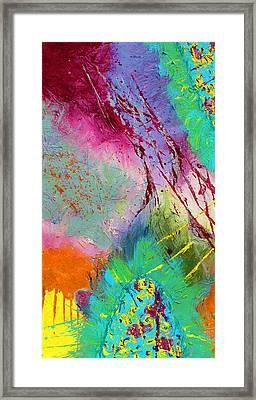 Modern Abstract Diptych Part 1 Framed Print