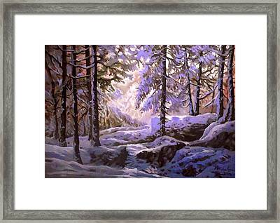 Wintermorning In The Forest Framed Print
