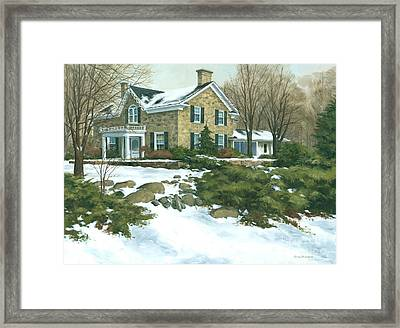 Winter's Retreat   Framed Print by Michael Swanson
