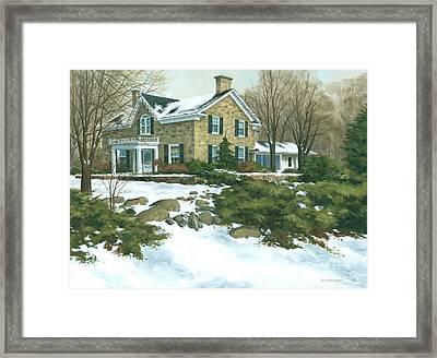 Winter's Retreat   Framed Print by Michael Swanson