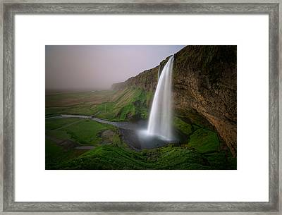 ... With Ash From The Volcano Framed Print