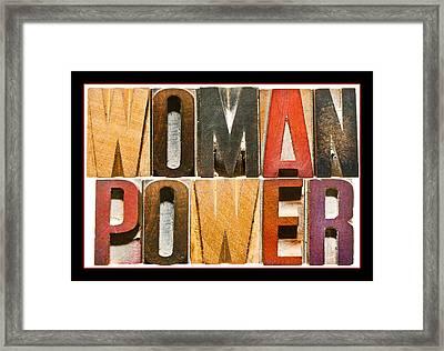 Woman Power Framed Print